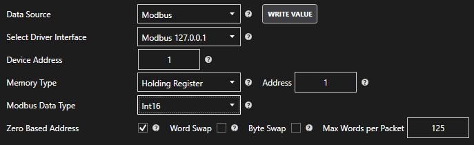 Modbus Memory Location