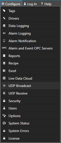 Configure UDP Broadcast