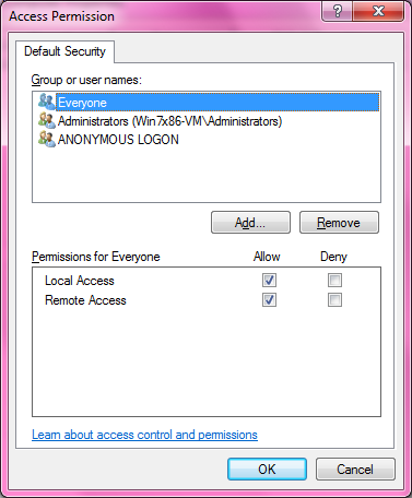 DCOM Security Configuration 514