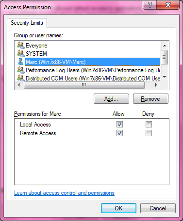 DCOM Security Configuration 520