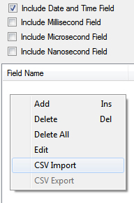 Export and Import CSV Data Logging | Industrial Internet of Things