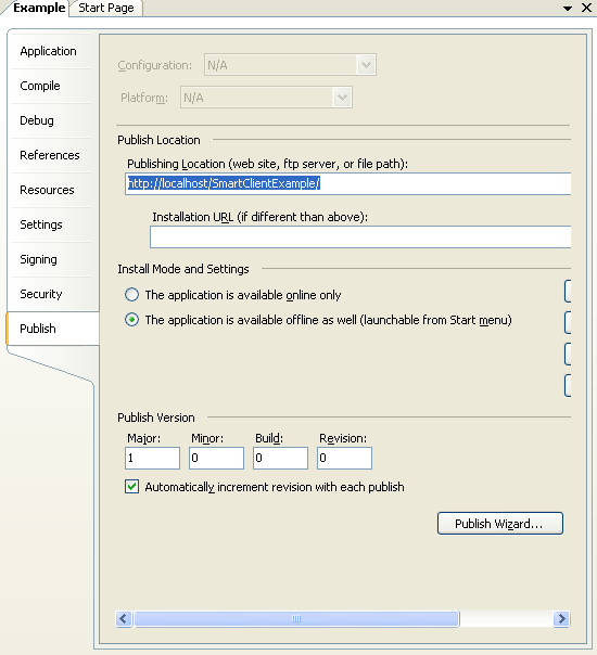 Smart Client Click Once Deployment 456