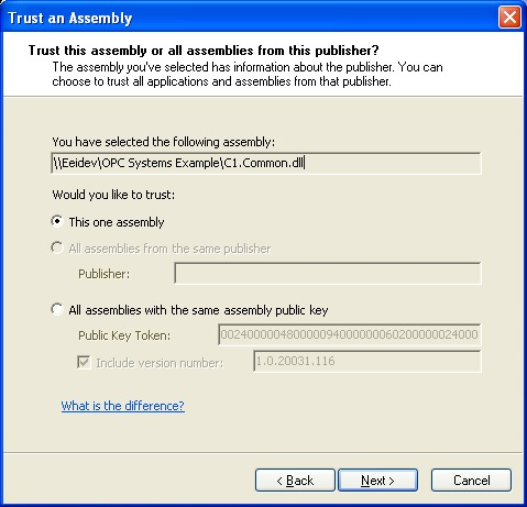 Smart Client with .NET Framework 1.1 469